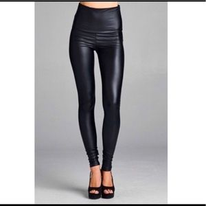 New mix vegan leather leggings  size s/m